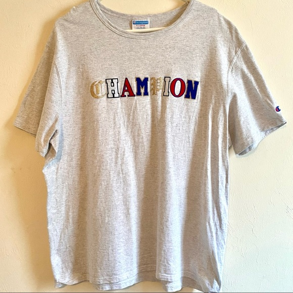 Champion Old English Lettering Mens Heritage Shirt
